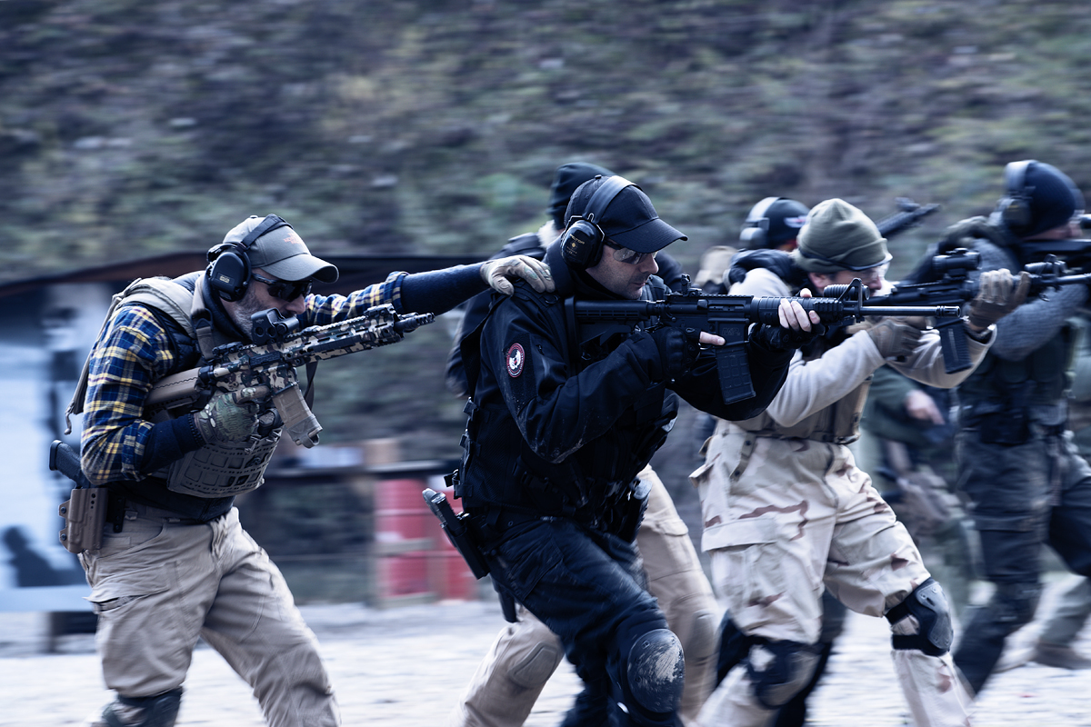 movimentazione in gruppo nei corsi tactical combat shooting