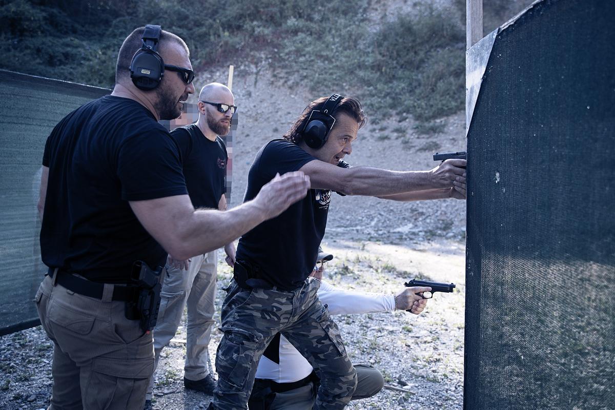 esercizio di transizione tactical combat shooting