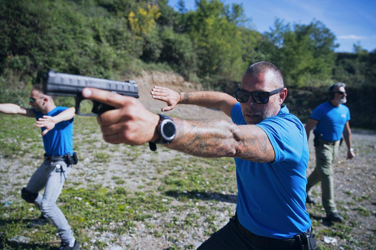 corsista Durante corso tcs tiro operativo israeliano con pistola