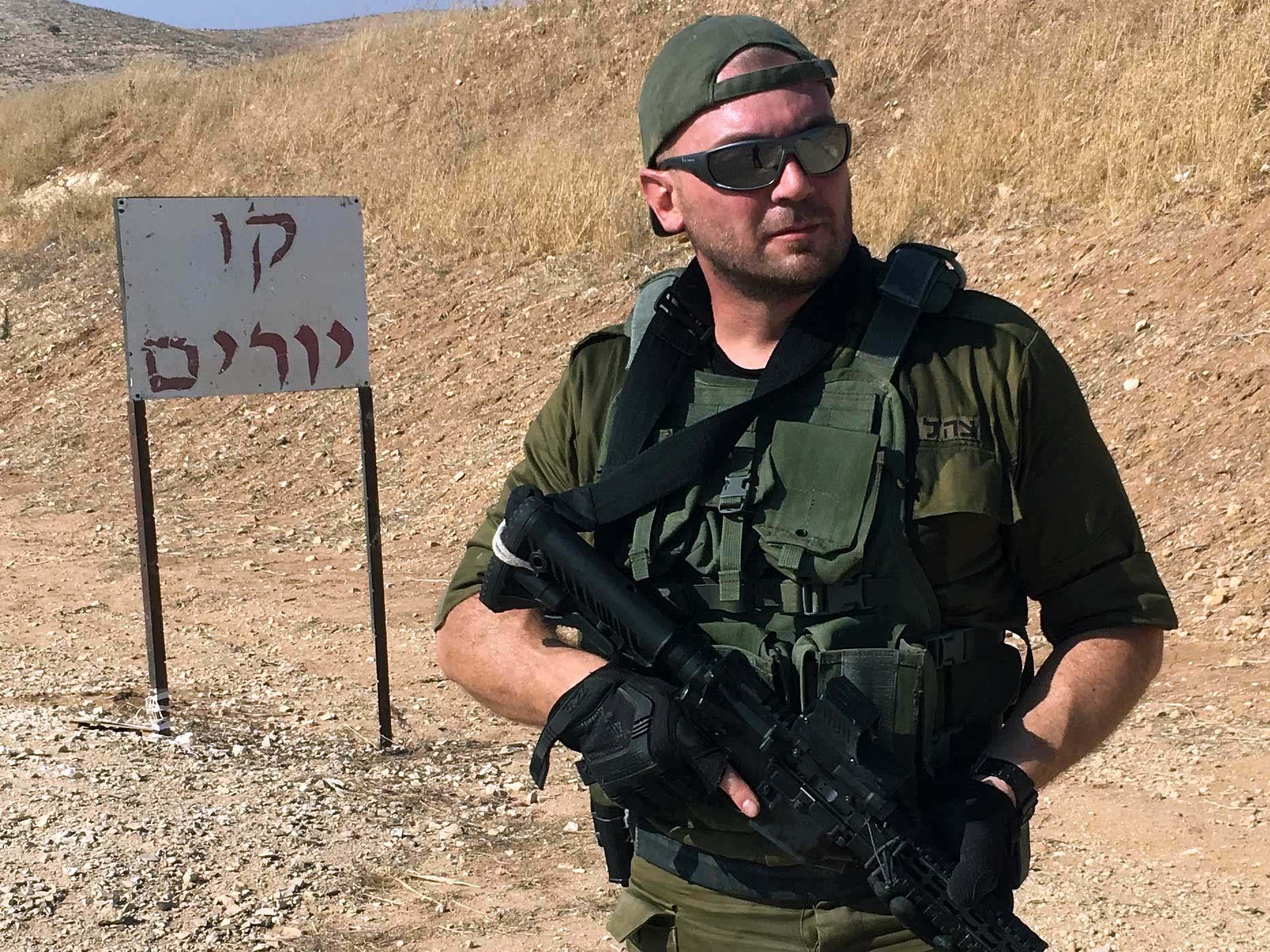 manuel spadaccini al poligono in israele tiro operativo