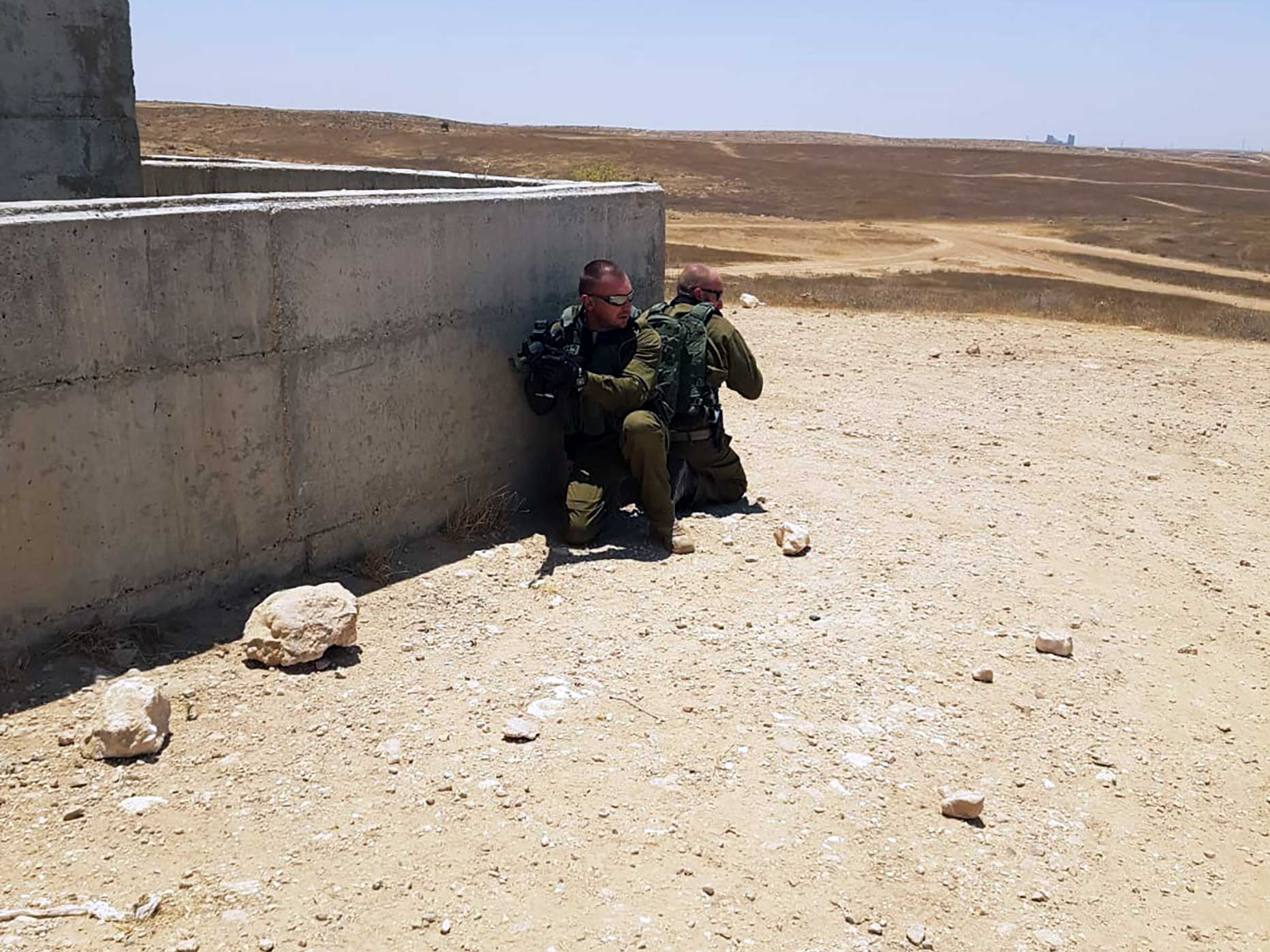 manuel spadaccini e daniele cattaneo addestramento in israele